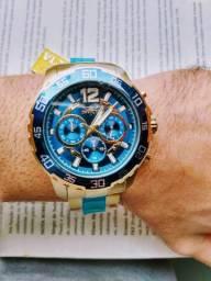 Relógio Invicta Dourado Original Importado Novo Na Caixa