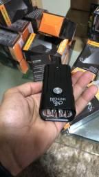 Farol bike carregador de telefone
