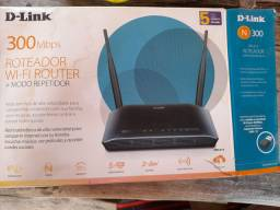 Roteador E Repetidor D-link N300 Dir-615 100v/240v 2 Antenas