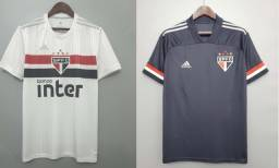 Kit Camisa De Futebol Sao Paulo I + Camisa De Futebol Sao Paulo III
