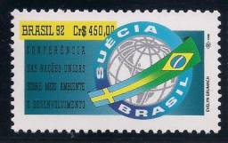 Filatelia Série ONU Conferência ECO-RIO Meio Ambiente - Brasil - Mint - 1992