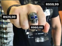 Anéis de aço inoxidável - pulseiras - camisetas