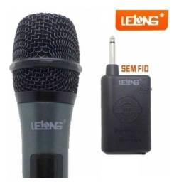 Microfone sem fio lelong (novo)