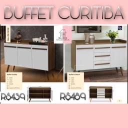 Buffet Buffet Buffet Buffet Buffet branco com marroom