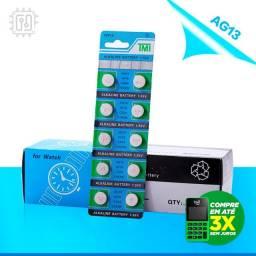 10 Pilhas Baterias Phomax Alcalina 1.55v Ag13 Sg13 Lr44 Original