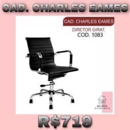 Cadeira para escritório giratória diretor charles