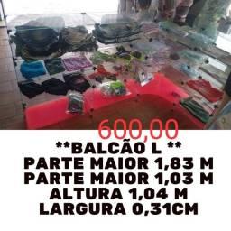 Balcão em Blindex para Lojas e Butiques