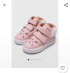Título do anúncio: Sapato tênis infantil rosa Tricae 25 NOVO