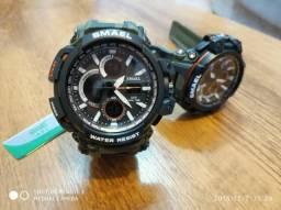 Relógio Camuflado Smael Estilo Ge Shock Led Multi função Resistente a água Envio P/ TD RS