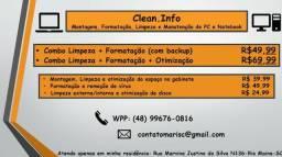 Formatação/Limpeza/Otimização de Gabinete de Pc e Notebook