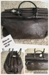 Bolsa de couro de mão