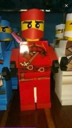 Bonecos lego de papel com 28cm