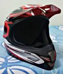 Capacete ASW Extreme TOP zerado mais óculos motocross JET espelhado TOP zerado na caixa