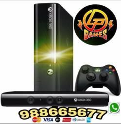 Xbox 360 + kinect + jogos e garantia promocao