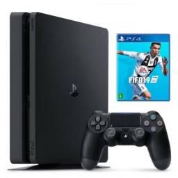 PS4 PlayStation 4 Slim 1TB Com Fifa 19 Novo Lacrado