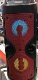 Caixa de som potente portatil - acompanha microfone - xzs-4209 - Nova na caixa