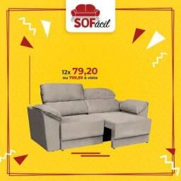 Sofá Retrátil e reclinável 2,05 mts