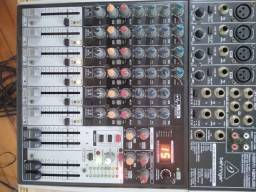 Mesa De Som Mixer X 1204 Behringer Xenyx X1204 USB 8 Canais