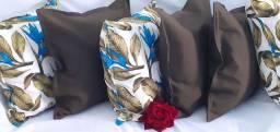 Kit de 05 almofadas decorativas só 100 reais