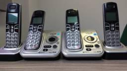 Telefone sem fio com 2 handsets.