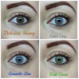 lentes coloridas realistas o par
