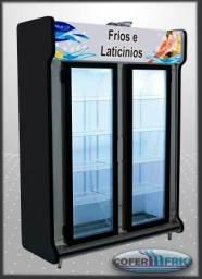 Expositor alto balcão auto-serviço laticínios, bebidas e frios em geral