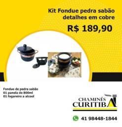Título do anúncio: kit fondue pedra sabao