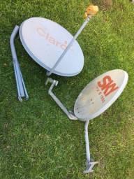 Antenas de 60 cm e 90 cm