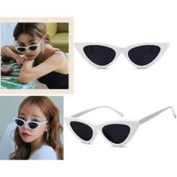 Óculos De Sol Retrô Gatinho Moda Blogueiras Proteção UV