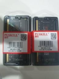 Duas Memórias DDR4 NOTEBOOK 4GB 2133MHZ