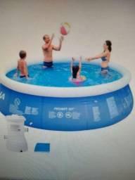 Título do anúncio: Piscina inflável de 5400 litros com filtro 110v
