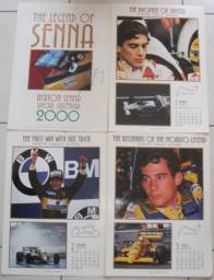 Calendário Fotografico Ayrton Senna 2000 Original Antiguidade Colecionavel
