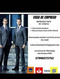Título do anúncio: CONTRATA-SE REPRESENTANTE DE VENDAS