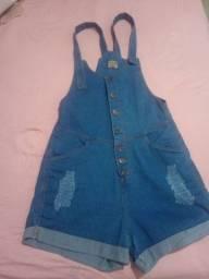 Macaquinho jeans Tam 50
