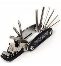 Kit Ferramenta Portable 15-in-1 Bicycle Repair Tool Kit Set Pronta Entrega