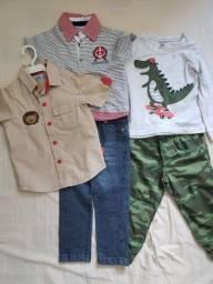 Título do anúncio: Lote roupas Carter's, Club Z e Marisol. 2 anos. Praticamente novas. Tudo R$ 70,00.