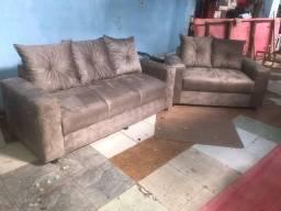 Conjunto de sofá com almofadas