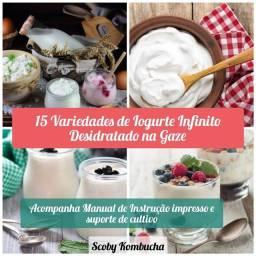 15 Variedades de Iogurte Infinito Desidratado na Gaze