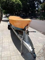 Barco 6m borda alta. Pety Brasil com carretinha - 2012