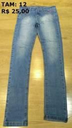 Calça Jeans Infantil Feminina - Tam 12