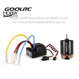 Motor 80t + Esc 40a Brushed Goolrc - Crawler