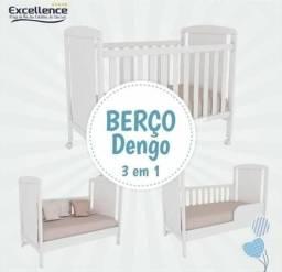 BERÇO AMERICANO 100% MDF 3 EM 1 (Berço, Berço mini cama e berço mini sofá)