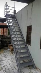 Escada de ferro, Escada Metálica, Escada reta