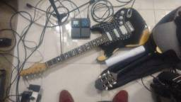 Guitarra phx super strato + pedaleira G1on com fon
