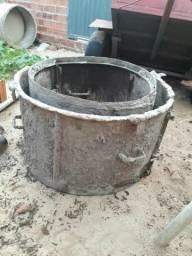 Forma de ferro para fabricação de manila