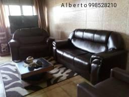 Conjunto 3e2 lugares novos em Corino confortável mas puff! !