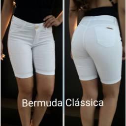 Bermuda Pedal Branca Feminina || Promoção||