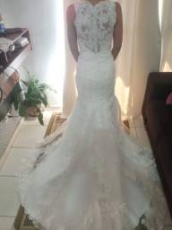 Vestido de noiva de renda/modelo sereia