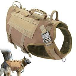 Colete peitoral cachorro militar