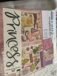 Kit para scrapbook Importados tema princesa